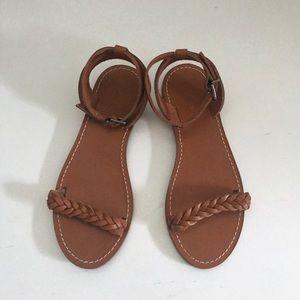 Madewell Sightseer Sandal 7 braided leather